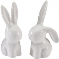 Transomnia - white ceramic rabbit ring holder